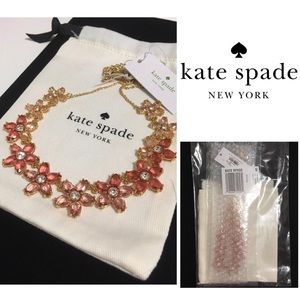 🆕KATE SPADE ♠️ -PINK FLORAL BED OF ROSES NECKLACE